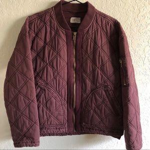 Jolt quilted dolman jacket purple size Medium